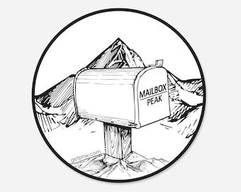 Mailbox Peak Round Sticker