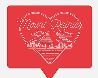 Mount Rainier Insta Like Sticker