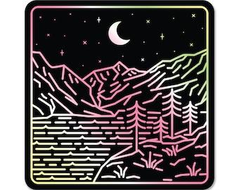 PNW Night Sky Holographic Sticker