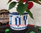 Nordic Christmas Joy decor Basket, Round knitted t shirt yarn christmas gift basket, Eco-friendly yarn handwooven basket, cotton string yarn
