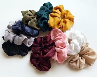 Fall Colors Scrunchies