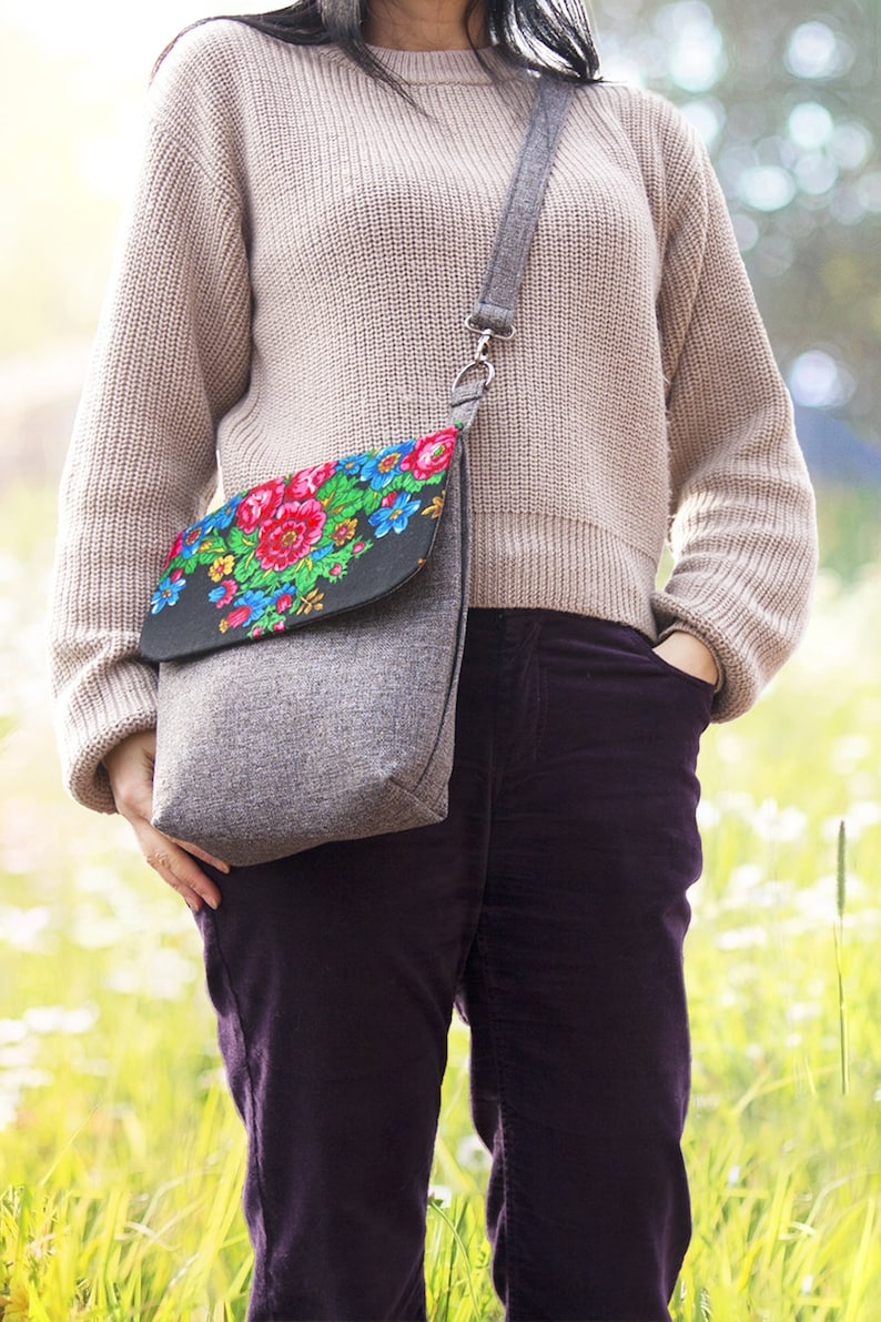 Mother/'s Day Gift Unique Floral Crossbody Bag Cute Hipster Bag Hippie Crossbody Purse Gift for Her Sling Bag