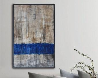 Original art minimalist Abstract Paintings / Extra Large Wall Art Textured