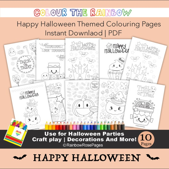 Happy HALLOWEEN Coloring  Pages Kids Coloring pages PARTY