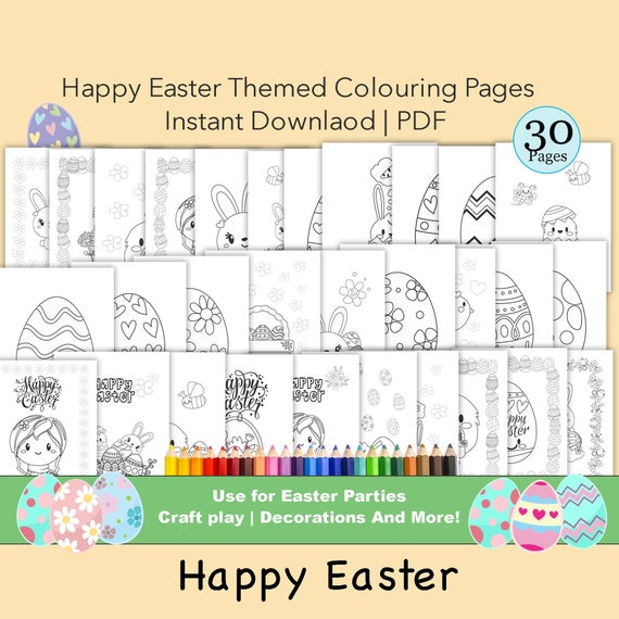 Easter Coloring Pages Kids Coloring pages PARTY favour