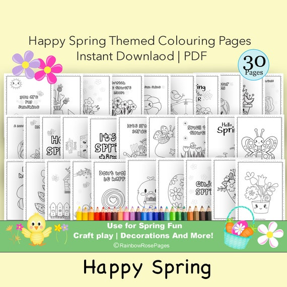 Spring Coloring Pages Coloring printable Coloring Fun