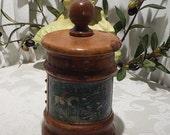 Amazing Vintage Fox Hunt Scene Tobacco Jar Humidor Made In Italy
