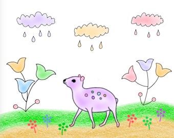 Raindrops Card