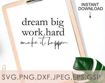 Work Hard And Dream Big \u2013 Motivational \u2013 Decorative Box Made With Metal /& Wood