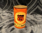 Vintage 1940's Phillips 66 Metal Tin Bank Oil Can Gas Station Sign