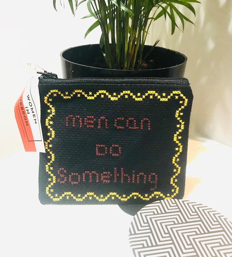 Women Can Do Anything  Men Can Do Something Purse Women in Hebron Brown /& Yellow