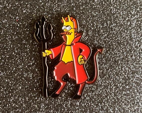 Simpsons Ned Flanders Devil Pin Treehouse of Horror Halloween 90s Nostalgia