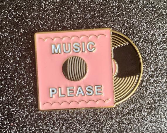 Music Please LP Vinyl Enamel Pin