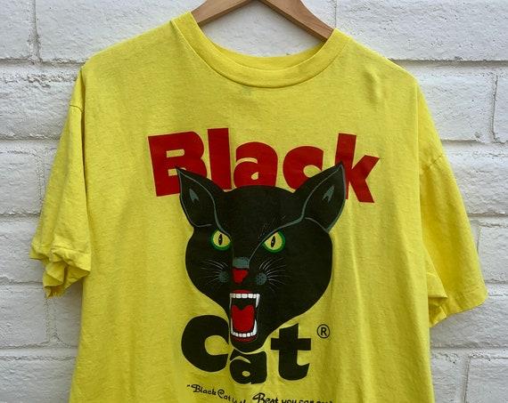 Vintage Black Cat 90's Fireworks Shirt