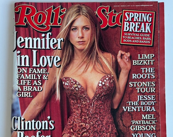 Jennifer Anniston Rolling Stone Issue 807 Vintage 1999 Nostalgia Friends Brad Pitt