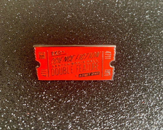 Rocky Horror Picture Show Science Fiction Double Feature Movie Ticket Halloween Pin Tim Curry Dr Frank n Furter