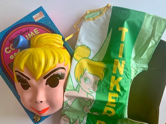 Vintage Disney Tinkerbell Ben Cooper Halloween Costume Mask Collegeville 80s