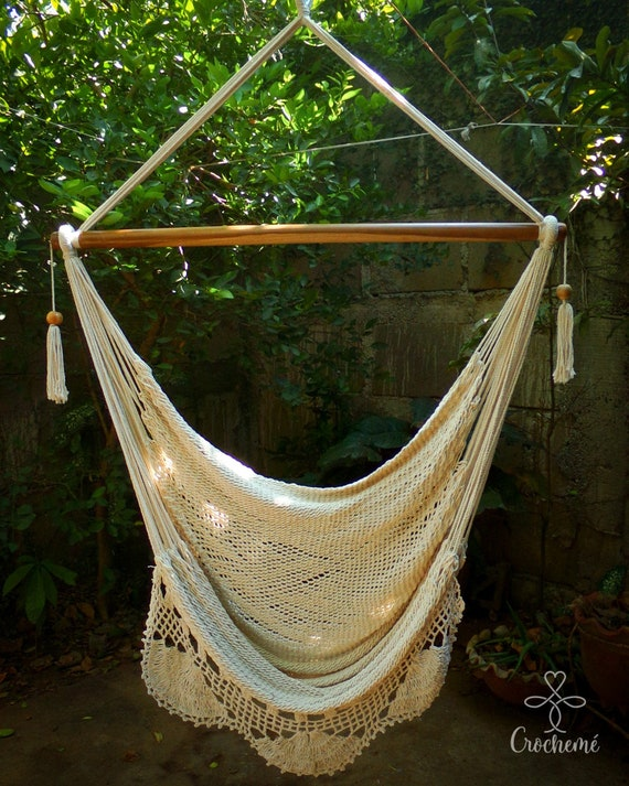 Large Hammock Swing Chair Big Swing Chair Simple Handwoven Etsy