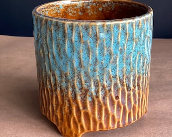 Blue plant pot/Ombre pot/New home gift/Plant lover gift