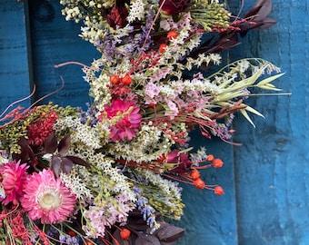 Dry flower wreath/Seasonal wreath/Christmas wreath/New home gift