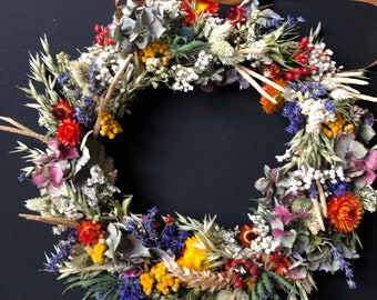 Autumnal dry flower wreath/Thanksgiving wreath/New home gift
