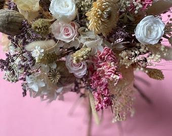 Wedding bouquet/Rustic dry flower bouquet/Everlasting wedding flowers