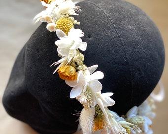 Wedding flower crown/Dry flower crown/Bridal flowers
