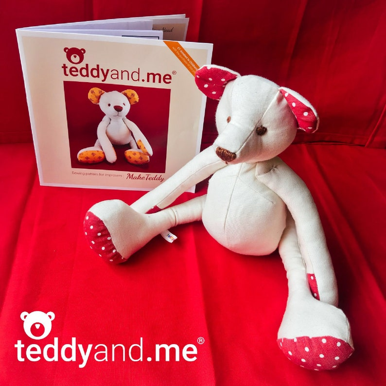 Make Teddy PAPER sewing pattern  Sew your own soft toy teddy image 0