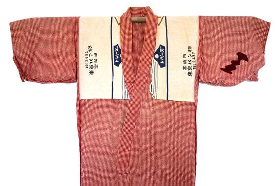 MOLESKIN Brushed Cotton Peasant Kimono / Vintage J