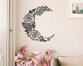 Metal Wall Art Flower Etsy