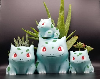 3D Printed Pokemon Planter - Bulbasaur (Buy any 2 items and get 15% off total!)