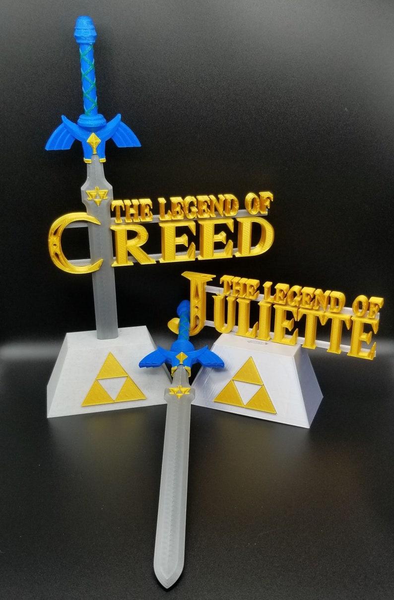 Buy any 2 items get 15/% off total! 3D Printed Zelda 12 BOTW Master Sword Gift Set