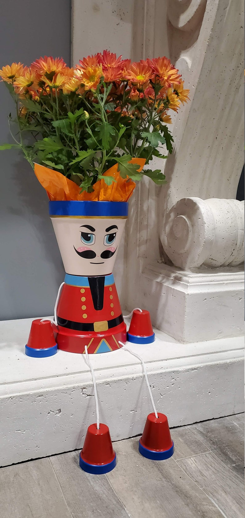 Christmas Nutcracker flower pot people home decoration high image 0