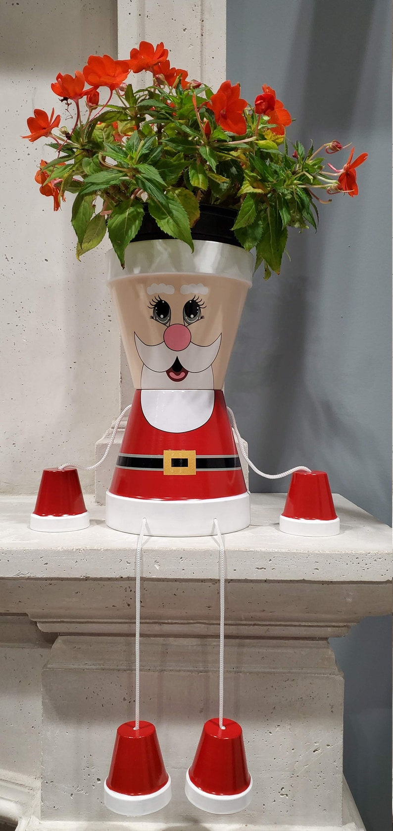 Christmas Santa flower pot people home decoration high quality image 0