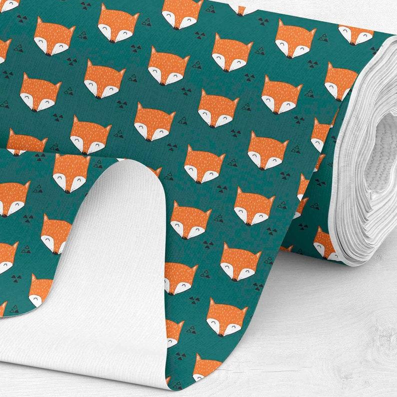 jacket fabric jacket fabric Soft shell 48hrs SHIPPING Softshell Fabric custom printed fabric by yard fox fabric Foxes 300gsm