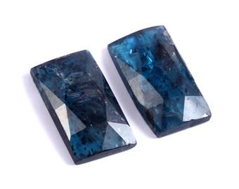 Loose Gemstones Lot 6 Pcs lot Kyanite Natural Rose Cut Slice Rose Cut Slice Cabochon Kyanite Cabochon Faceted
