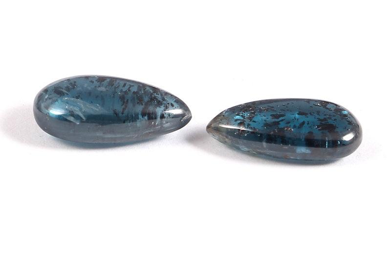 Loose Gemstone7x15 Awesome Indigo Kyanite Maching Pair Loos Cabochon Gemstone Pear Shape Gemstone For Making Jewelry