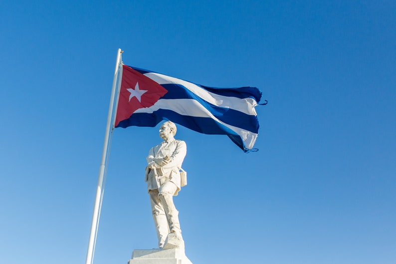Cuba Photography Cuban Flag Holguin Travel Photography image 0