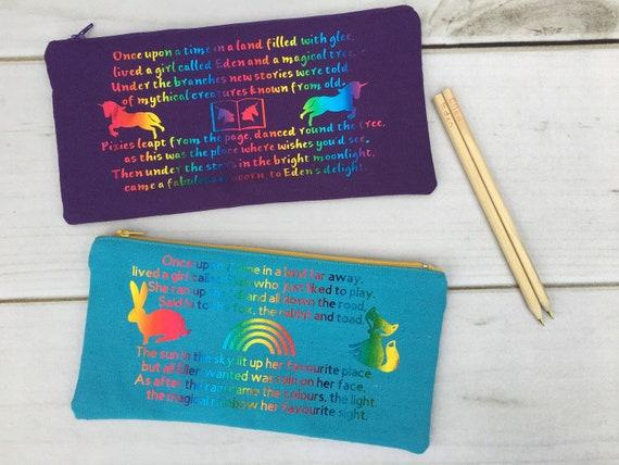 Rainbow and Sun Pencil Case