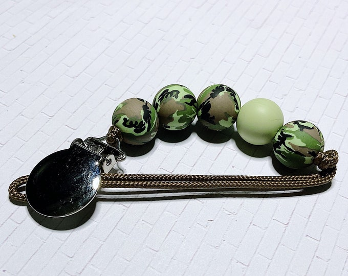 Featured listing image: the camo collection - pacifier clip