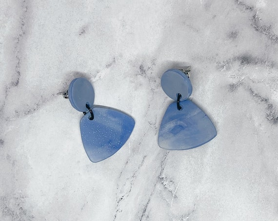 Sky Blue Polymer Clay Earrings