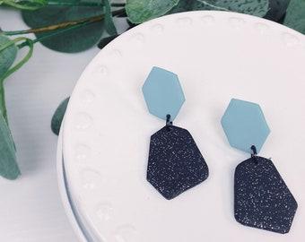 Bright Blue Sparkle Dangles
