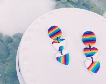 Rainbow Heart Dangles