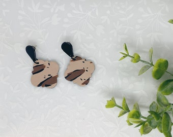Leopard Print Aztec Polymer Clay Earrings