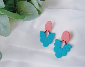 Teal and Hot Pink Mini Dangles