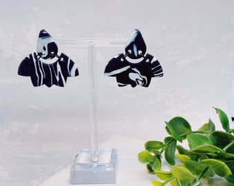 Black and White Marble | Polymer Clay Earrings
