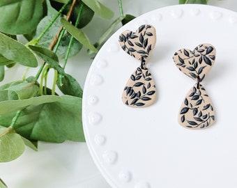 Abstract Heart Earrings