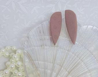 Mauve Chelsea Dagger Polymer Clay Earrings