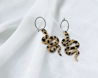 Leopard Print Serpent Earrings