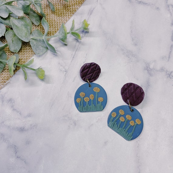 Plant Mom Polymer Clay Earrings